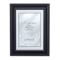 Lawrence Frames - 310057 Black Metal Classic Rope 5x7 Picture Frame - Decorative black picture frame with elegant rope border on outside edge  This metal picture frame is perfect for that special photo.  High quality black velvet backing with an easel for vertical or horizontal table top display, and hangers for vertical or horizontal wall mounting.    Heavy weight metal picture frame is made with exceptional workmanship and comes individually boxed.