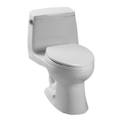 Toto - Toto MS853113S#11 Colonial White UltraMax Toilet, 1.6 GPF - Toto MS853113S#11 colonial white UltraMax Elongated One-Piece Toilet. Toto is the world's largest plumbing products manufacturer, they have been designing and innovating plumbing fixtures, accessories, showers, and for over 90 years. Each collection and product that Toto makes is unique in appearance and performance. This Toto MS853113S#11 colonial white UltraMax Elongated One-Piece Toilet features a high gloss enamel Vitreous China constructed body designed minimize chipping and scratching. This Toilet also includes an upgraded elongated toilet bowl, and a powerful G-Max flushing system. The Universal height and rough-in make the toilet comfortable for users and easy to install. This Toilet comes in colonial white.