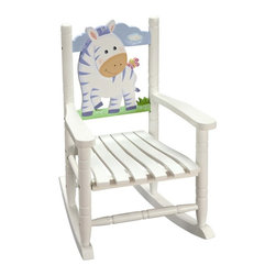 Fantasy Fields - Fantasy Fields Rocking Chair - Zebra Multicolor - W-8340A - Shop for Rocking from Hayneedle.com! The friendly zebra on the Teamson Rocking Chair - Zebra provides your child the perfect seat for reading or watching television with the family. Hand-carved and hand painted this chair features a high quality sturdy construction to last for years.Some assembly is required and instructions are included. This child's rocking chair measures 15L x 18W x 21H inches and is intended for kids ages 3 to 8.About Teamson DesignBased in Edgewoood N.Y. Teamson Design Corporation is a wholesale gift and furniture company that specializes in handmade and hand-painted kid-themed furniture collections and occasional home accents. In business since 1997 Teamson continues to inspire homes with creative and colorful furniture.