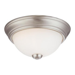Minka Lavery - Minka Lavery 4960 2 Light Flush Mount Ceiling Fixture in Dark Brushed Bronze fro - Two Light Flush Mount Ceiling Fixture in Dark Brushed Bronze from the Overland Park CollectionFeatures: