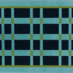 Veranda Indoor / Outdoor Area Rugs - This custom made rug is crafted in the U.S.A. from marine grade polypropylene.  These rugs are perfectly suitable for any outdoor environment.  There are 20 interchangeable colors to choose from, and 40 standard designs.  Made-to-order, these rugs can be made in almost any size.  Custom patterns are available too.