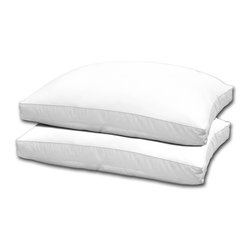 Hotel Grand - Hotel Grand 1000 Thread Count Optima Loft Down Alternative Pillow (Set of 2) - Optima-loft pillows keep necks supported and numbered sheep unemployed. The luxurious pillow covers are 100-percent Egyptian cotton with a soft 1000 thread count,while the pillow is filled with practical and comfortable polyester.