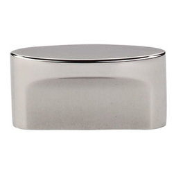 Top Knobs - Top Knobs: Medium Oval Slot Knob 1 1/2 Inch (C-C) - Polished Nickel - Top Knobs: Medium Oval Slot Knob 1 1/2 Inch (C-C) - Polished Nickel
