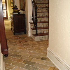 mediterranean floor tiles by Stone & Pewter Accents