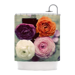 """Kess InHouse - Cristina Mitchell """"Four Kinds of Beauty"""" Roses Shower Curtain - Finally waterproof artwork for the bathroom, otherwise known as our limited edition Kess InHouse shower curtain. This shower curtain is so artistic and inventive, you'd better get used to dropping the soap. We're so lucky to have so many wonderful artists that you'll probably want to order more than one and switch them every season. You're sure to impress your guests with your bathroom gallery in addition to your loveable shower singing."""