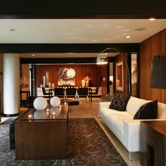 modern living room by Walsh Design Group, Inc.