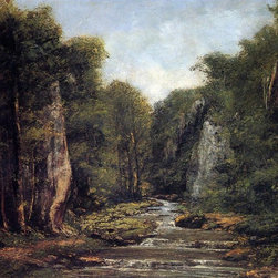 """Gustave Courbet The River Plaisir-Fontaine - 16"""" x 20"""" Premium Archival Print - 16"""" x 20"""" Gustave Courbet The River Plaisir-Fontaine premium archival print reproduced to meet museum quality standards. Our museum quality archival prints are produced using high-precision print technology for a more accurate reproduction printed on high quality, heavyweight matte presentation paper with fade-resistant, archival inks. Our progressive business model allows us to offer works of art to you at the best wholesale pricing, significantly less than art gallery prices, affordable to all. This line of artwork is produced with extra white border space (if you choose to have it framed, for your framer to work with to frame properly or utilize a larger mat and/or frame).  We present a comprehensive collection of exceptional art reproductions byGustave Courbet."""