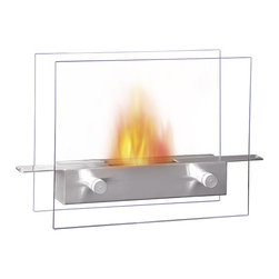 None - Metropolitan Table Top Ethanol Fireplace - This Metropolitan table top fireplace is a unique, impressive, and eco-friendly answer to the fireplace. Creates a bright yellow, orange and red flame, spreading cheerful ambiance across the room.