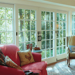 Sliding French Doors - A scenic view from indoors!