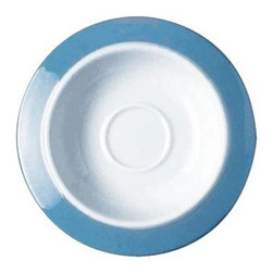 "Alessi - Colorbavero 4.7"" Saucer for Mocha Cup - The Colorbavero collection is an addition to the popular Bavero series, with rims decorated in heavenly blue trim. Made of elegant white porcelain, the Colorbavero Saucer will add a touch of class to any table setting. Features: -Saucer for mocha cup. -Complements the Colorbavero collection. -Simple, versatile and elegant design. -Rims decorated in heavenly blue trim. Specifications: -Diameter: 4.7"". -Material: White porcelain. -Dishwasher safe."