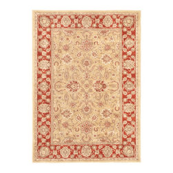 "Torabi Rugs - Machine made Lotus Garden Espresso Khaki Polypropylene Rug 4'0"" x 5'7"" - Stylish designed rugs that are designed to provide high levels of comfort and practicality. Reminiscent of the famous American Sarouk designs of the William Morris rugs, the Lotus Garden series is a unique collection of power-loomed heat set two ply yarn rugs that evoke a sense of the past in modern-day colors and interpretations."