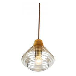 ParrotUncle - Clear Bottle Shade Contemporary Glass Pendant Lighting - Clear Bottle Shade Contemporary Glass Pendant Lighting