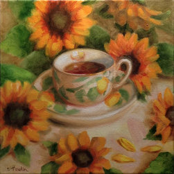 """""""""""Lemon Teacup"""""""" (Original) By Tatiana Roulin - This Painting Was Created For """"Shades Of Yellow"""", Last Year A 3-Person Show Featuring Sue Prideaux, Ann Rozhon And Tatiana Roulin. Painted In Alla Prima From Real Life."""