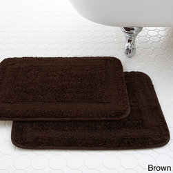 None - Classic Spa Collection Memory Foam Bath Mat (Set of 2) - Designed to absorb water and protect your floors,this microfiber mat features a memory foam core that your feel will love stepping down on. Available in several neutral colors,this seamless mat is super-absorbent and dries quickly.