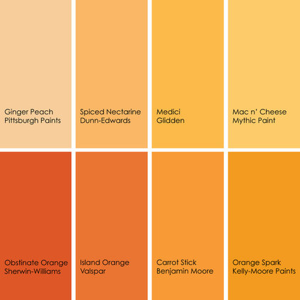 Bathed in color when to use bold orange in the bath Orange paint samples