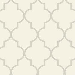 Trellis Wallpaper -Pearl Double Roll - Ballard Designs -