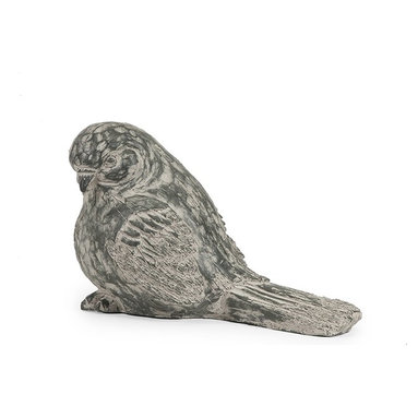 iMax - Singleton Garden Black Bird - This twittering friend is perfect for adding character inside or out! with the look of aged, carved, painted wood, this sweet songbirdworks great as a door stop, a garden decoration, or a decorative room accent in an enclosed patio.