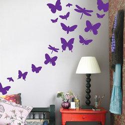 ferm LIVING - Butterflies Kids Wall Sticker in Violet - Butterflies Kids Wall Sticker in Violet