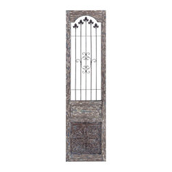 Benzara - Wood Metal Wall Decor 75in.H, 19in.W Wall Decor - Size: 19 Wide x 1 Depth x 75 High (Inches)