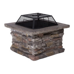 Great Deal Furniture - Tundra Square Fire Pit - Light your fire: You have a passion for entertaining outdoors and would love to add the warmth of a flickering fire to the festivities. This handsome fire pit comes with everything you need to create the look you want. And should your imagination become further ignited, this fire pit moves according to your desire.