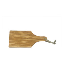 """Berard - Berard Olive Wood Craftsman's Quality Cutting Board with Handle - 8.1"""" x 4.3"""" x - It measures approximately 8.1-inch by 4.3-inch by .27-inch including the handle. It is meant to be used as a cutting board, but is also suitable for use as a plate, or sandwich board. The quality of Berard products are the result of century of know-how. Year after year, Berard has been synonymous, with quality, authenticity and reliability. Each piece are artisanaly produced. Therefore uniformity does not exist and the little """"imperfections """" belong to this natural product. No two pieces are alike."""