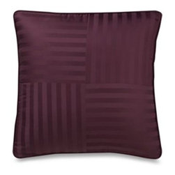 Wamsutta - Wamsutta Damask Stripe Purple European Pillow - Add the perfect finishing touch to your Damask Stripe comforter set with this coordinating pillow. It's the perfect complement to this lustrous bedding.