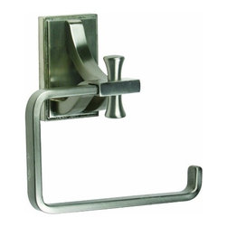 DHI-Corp - Ironwood Toilet Paper Holder, Satin Nickel - The Design House 539460 Ironwood Toilet Paper Holder adds an elegant accent to any bathroom wall. This rustic and stylish holder is constructed in iron, finished in satin nickel and measures 5.25-inches. Ez anchor mounts are included with this toilet paper holder for quick installation on drywall and a mounting template is conveniently printed on the back of the package. Anchors are a cleaner alternative to plugs and they are well-known for their steadfast strength and intuitive design. This holder is sophisticated with an open square shape to quickly replace toilet paper. The Ironwood collection features a matching towel ring, robe hook and towel bar for a complete bathroom set to enjoy for years to come. The Design House 539460 Ironwood Toilet Paper Holder comes with a 1-year limited warranty that protects against defects in materials and workmanship. Design House offers products in multiple home decor categories including lighting, ceiling fans, hardware and plumbing products. With years of hands-on experience, Design House understands every aspect of the home decor industry, and devotes itself to providing quality products across the home decor spectrum. Providing value to their customers, Design House uses industry leading merchandising solutions and innovative programs. Design House is committed to providing high quality products for your home improvement projects.