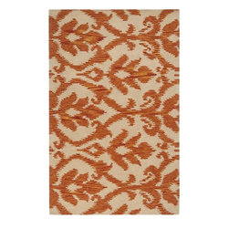 Surya - Surya Matmi Rug X-118-2345TAM - Be on trend with this beautiful IKAT rug. Hand tufted in 100% wool in India, this rug features a plush pile. Colors of orange and cream accent this stylish area rug.