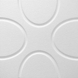 IDS Group - 2x2 White Decorative Ceiling Tiles, Austin Design - Total Coverage: 32 SqFt (Box of 8)