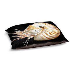 DiaNoche Designs - Dog Pet Bed Fleece - Deep Sea Life- Nautilus - The comfort of your pet is of the utmost importance. But shouldn't their furniture match yours? DiaNoche Designs gives your pet some clout with our stable of international artists designs on their new bed.