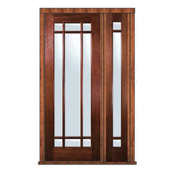 "Prehung French Side light Door 96 Mahogany 9 Lite Marginal TDL Glass - SKU#    LD8246-G-TDL809-1 IGBrand    GlassCraftDoor Type    FrenchManufacturer Collection    9 Lite Marginal French DoorsDoor Model    Marginal 9 LiteDoor Material    WoodWoodgrain    MahoganyVeneer    Price    3490Door Size Options      +$percent  +$percent  +$percent  +$percentCore Type    Door Style    Door Lite Style    9 Lite , MarginalDoor Panel Style    Home Style Matching    Door Construction    TDLPrehanging Options    PrehungPrehung Configuration    Door with One SideliteDoor Thickness (Inches)    1.75Glass Thickness (Inches)    Glass Type    Double GlazedGlass Caming    Glass Features    Low-E , Tempered ,  Low-E , BeveledGlass Style    Glass Texture    ClearGlass Obscurity    No ObscurityDoor Features    Door Approvals    Wind-load Rated , FSC , TCEQ , AMD , NFRC-IG , IRC , NFRC-Safety GlassDoor Finishes    Door Accessories    Weight (lbs)    498Crating Size    25"" (w)x 108"" (l)x 52"" (h)Lead Time    Slab Doors: 7 Business DaysPrehung:14 Business DaysPrefinished, PreHung:21 Business DaysWarranty    One (1) year limited warranty for all unfinished wood doorsOne (1) year limited warranty for all factory?finished wood doors"