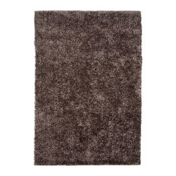 Jaipur - Flux Brown Rectangular: 5 Ft. x 7 Ft. 6 In. Rug - - Personal expression reaches new heights with Flux, a beautiful range of plush, hand-woven shag rugs of 100% polyester. This �chameleon� is ideal for the contemporary design lover who enjoys mixing up his or her personal space often � acting as a rich background to a diverse palette of furnishings and accessories. Highly textured shag construction brings comfort underfoot while a palette of fashionforward solid hues commands attention in any room  - Cleaning and Care: Polyester is dirt and stain resistant and will look great for a long time just by vacuuming regularly. Dries fast so deep steam/rug cleaning works great to release dirt from fiber. If spills occur blot immediately. Use rug/carpet cleaners that are safe on synthetic fibers. Use professional cleaning agents only. To vacuum use an attachment arm or suction only to remove dirt particles  - Backing Material: Cotton  - Companion Item: Rug Pad  - Pile Height: 0.87  - Construction: Shag  - It is Sustainable  - Ultra Plush  - Lustrous Finish  - Solid  - Solid/Texture/Shags Jaipur - RUG101783