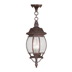 "Livex Lighting - Livex Lighting 7908 Frontenac Outdoor Pendant - Livex Lighting 7908 Frontenac Three Light Outdoor PendantShowcasing a regal style, the Frontenac single light 19.75"" tall outdoor pendant features intricate scroll work, a tall decorative finial, and beautiful seeded glass that will enhance the appeal of the outside of your home.Livex Lighting 7908 Features:"