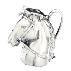 Arthur Court - Thoroughbred Pitcher - Harness the power and beauty of horses for your home. This brilliantly crafted cast aluminum pitcher is a piece you'll be proud to use and display as an accent to your traditional decor.