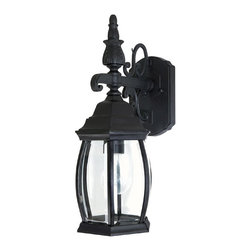 Capital Lighting - Capital Lighting French Country Traditional Outdoor Wall Sconce X-KB6689 - This Capital Lighting French Country Traditional Outdoor Wall Sconce is a subtly elegant piece. Notice the beautiful design of the frame in a sleek, black finish and the clear beveled glass panels. It's a stunningly attractive light fixture that will make a wonderful impression on anyone who sees it hanging on your wall.