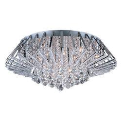 ET2 - ET2 E20402-20 Zen 20-Bulb Flush Mount Indoor Ceiling Fixture - Crystal Shade Inc - Product Features: