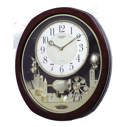 RHYTHM - Joyful Land Musical Motion clock - Never has there ever been this much elegance in a table clock