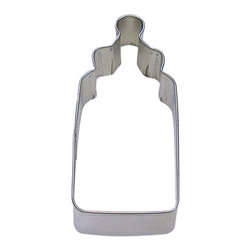 RM - Baby Bottle 4 In. B0989 - Baby Bottle cookie cutter, made of sturdy tin, Size 4 in., Depth 7/8 in., Color silver