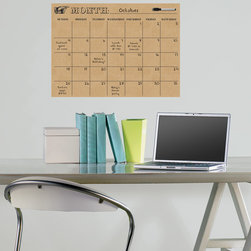 Back to School 2014 - Trendy and chic office decor idea with a novelty dry-erase calendar. Would look great in a dorm room or teen decor as well