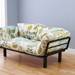 None - Eli Spacely Multi-Flex Daybed Lounger - Make the most of any room with this beautiful futon bed. The futon can be used as plush seating and or as a comfortable bed. The floral pattern is bright and unique to make it a statement piece of furniture that will add character to any room.