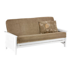 Night & Day Furniture - Night and Day Key West Futon in White - Drawers Included - The key west will be perfect for your Florida sun-room. If you don't have one you'll feel like you do! Our standard collection wood futon frames are built to last. These prime quality frames are made from the finest plantation grown materials and are constructed with traditional woodworking good sense. A broad range of products in a variety of handsome finishes makes the standard collection a smart choice for your home. All standard collection items come with a limited 10 year warranty.