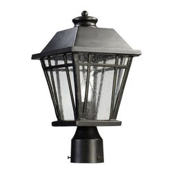 Quorum International - Quorum International 766-8 1 Light Ambient Lighting Post Light From the Baxter C - Transitional 1 Light Ambient Lighting Post Light From the Baxter CollectionAre your pathways dark and dangerous? Or maybe you're looking to accent your garden? This handsome and durable post light from the Baxter collection is the solution. Designed to mount atop a standard sized post, this fixture will fill your areas with 100 watts of bright, ambient light, adding safety and style.  This fixture is tough too! It is UL listed for wet locations and will stand up to the roughest weather!Features: