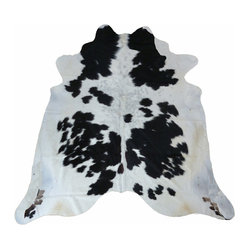 Cowhide Pampas Black and White Rug