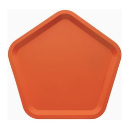 Alessi - Territoire Intime Tray by Alessi - A perfect pentagon for stylish serving. The Alessi Territoire Intime Tray has a visually pleasing and easy to carry pentagonal form molded out of a single sheet of 18/10 stainless steel. The rounded corners and raised edges are enhanced by a high polish or smooth epoxy resin. Designed by matali crasset. Alessi, known as the Italian design factory, has manufactured household products since 1921. The stylish and fun items offered are the result of contemporary partnerships with some of the world's best designers of unique and modern home accessories.