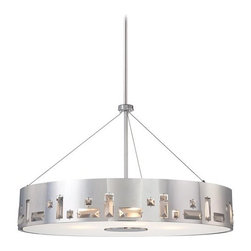 Kovacs - Kovacs P1094-077 6 Light Drum Pendant In Chrome from the Bling Bang Collection - Six Light Drum Pendant In Chrome from the Bling Bang CollectionFeatures: