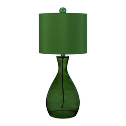 "AF Lighting - AF Lighting 8515 Green Single Light Hand Blown Glass Table Lamp Angelo - AF Lighting 8515 Single Light Table Lamp from the Angelo Home CollectionThis fixture is designed by Angelo Surmelis from ""angelo : Home"". He is a world class designer who is known for his unique hand crafted work, and has been on many television shows for HGTV and TLC. AF Lighting and Angelo have partnered to create an entire collection of fixtures that are designed by Angelo. The collection of stylish and affordable fixtures is committed to quality, value and ease. From the hand crafted details to the no fuss assembly, the Angelo Home collection will add style to any room in the home.Features:"