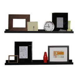 Smart Furniture - Smart Furniture Floating Photo Ledge, Black, 24 Inches Wide - The Smart Furniture Floating Photo Ledge is a sleek floating shelf that is designed to proudly display photos to you and anyone who enters your home.  With multiple available sizes and colors, you can easily create a dynamic display for all those wonderful pictures of memories and people that make your life great.