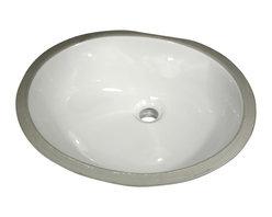 "Nantucket Sinks - Nantucket Sink GB-17x14-W Ceramic Lavatory Sink - Nantucket Sinks GB-17x14-W - 17"" x 14"" Glazed Bottom Ceramic Oval Bathroom Sink in White. This sink has a 1.75"" drain diameter."