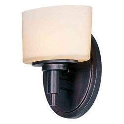 Maxim Lighting 9021DWOI Lola Oil Rubbed Bronze Wall Sconce - 1 Bulb, Bulb Type: 60 Watt G9 Frost Xenon, Bulb Included