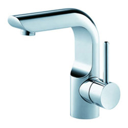 Fresca - Fresca Mazaro Single Hole Mount Bathroom Faucet - Chrome - This single hole faucet is made from heavy duty brass with a chrome finish.  Features a Hydroplast mixing valve with water saving control.